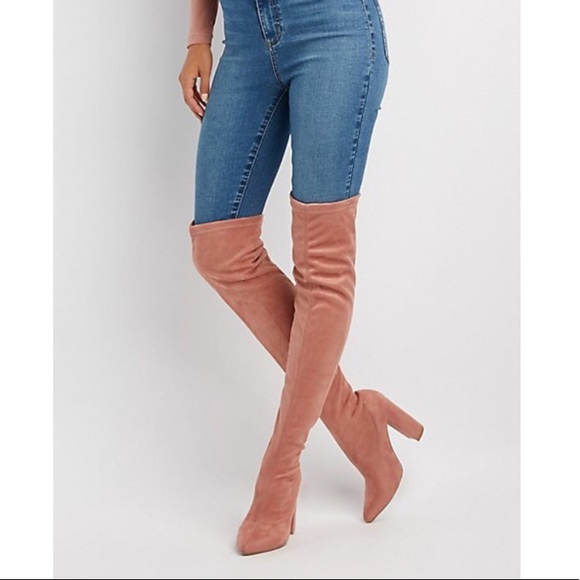 87fd7a2c7eb Charlotte Russe Shoes - Qupid Pointed Toe Over-The-Knee Boots